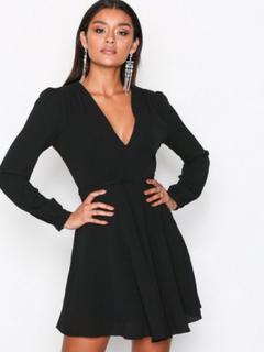 Glamorous Long Sleeve Flounce Dress Skater kjoler