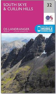 ORDNANCE SURVEY Landranger 32 södra Skye & Cuillin Hills karta med ...