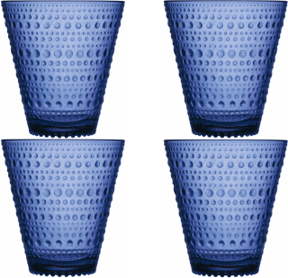 Iittala Kastehelmi dricksglas 30 cl Ultramarinblå4-pack
