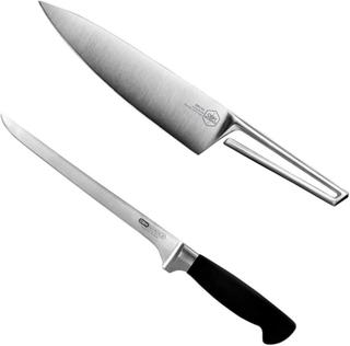 OBH Nordica Knivset Arctic Kockkniv 20 cm + Oden Filékniv 21 cm