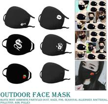 Respirator Unisex Fashion Kpop Mouth-Muffle Face Masks 1 Pcs Black Health Cycling Anti-Dust Mouth Face Mask