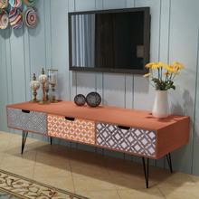 vidaXL TV-bänk med 3 lådor 120x40x36 cm brun