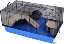Skyline Barney -jyrsijänhäkki - sininen: P 100 x L 54 x K 45 cm