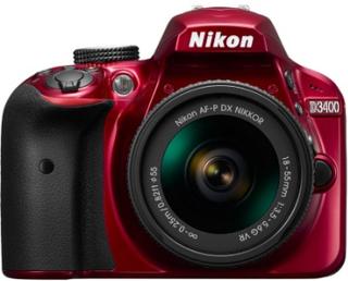 Nikon D3400 + AF-P 18-55/3,5-5,6 VR Red