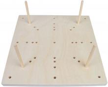 fromWOOD Blocking Board i Trä 16 hål 25x25x1,5cm