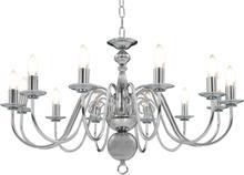 vidaXL Takkrona silver 12 x E14-glödlampor