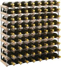 vidaXL Vinställ för 72 flaskor massiv furu