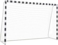 vidaXL Fotbollsmål 300x200x90 cm metall svart och vit