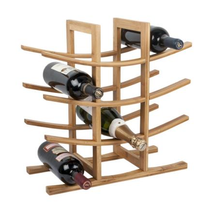 RTA vinställ 12 flaskor bambu brun