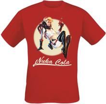Fallout - Nuka Bombshell -T-skjorte - rød