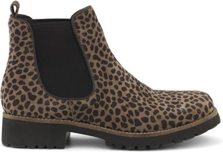 Green Comfort Chelsea Boot Leopard
