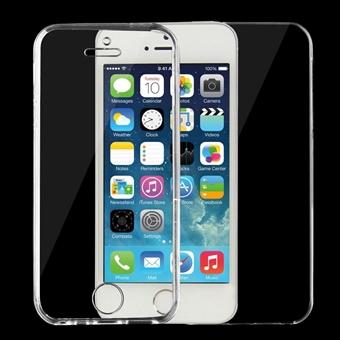 Läpinäkyvä kaksipuolinen Kuori iPhone 5 & 5s & SE