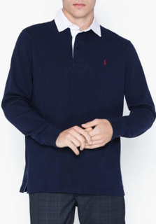 Polo Ralph Lauren Long Sleeve Rugby Sweater Polotrøjer Navy