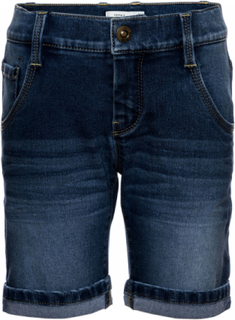 Alexi Long Shorts Dark Blue Denim, Name It