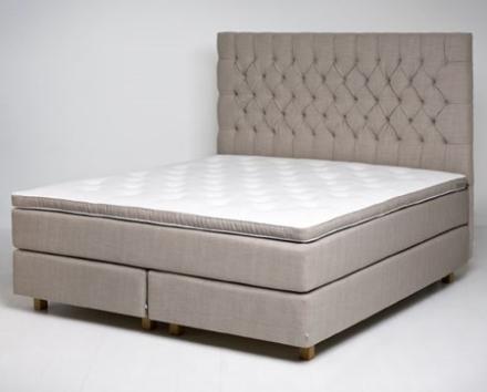 Mille Notti Lorenzo kontinentalsäng – 180x210, medium/fast, mörkgrå