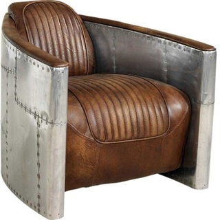 Artwood Tom Cat Aviator Armchair - Antique Whiskey/Spitfire