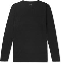 Sunspel - Slim-fit Merino Wool T-shirt - Black - L,Sunspel - Slim-fit Merino Wool T-shirt - Black - XL,Sunspel - Slim-fit Merino Wool T-shirt - Black - M,Sunspel - Slim-fit Merino Wool T-shirt - Black - S,Sunspel - Slim-fit Merino Wool T-shirt - Black - X