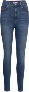 Gina Curve Jeans Skinny Jeans Blå Gina Tricot