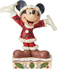 Mickey Mouse - Mickey Mouse Mini Christmas Figurine -Statue - flerfarget