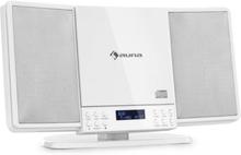 V14-DAB Vertikal-stereoanläggning CD FM och DAB+ tuner BT vit