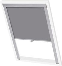 vidaXL Mörkläggande rullgardin grå C02