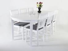Sandhamn matbord 160-200 cm - Vit