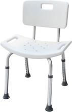 Parcura Justerbar badstol med ryggstöd vit 120 kg 52 cm 84820