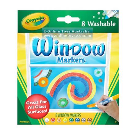 CrayolaWindow Markers, Fönsterfärg, 8-pack