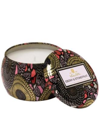 Voluspa Ebony & Stonefruit Japonica Collection Hvit