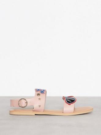 Love Moschino Flat Sandal Sandaler Rosa