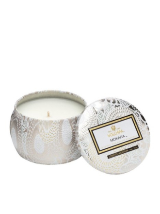 Voluspa Mokara Decorative Tin Candle Hvit