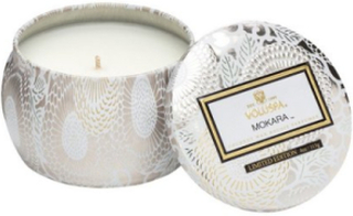 Voluspa Mokara Decorative Tin Candle Doftljus Vit