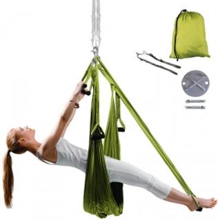 inSPORTline Yogaswing Antigravity Sett, grønn, inSPORTline Yoga & Pilates