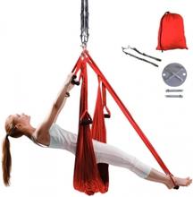inSPORTline Yogaswing Antigravity Set, röd, inSPORTline Yoga & Pilates