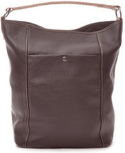 Bucket Bag Brown Grained Leather