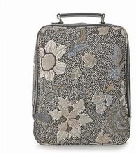 Kids Ravenna Backpack Black Flower Linen