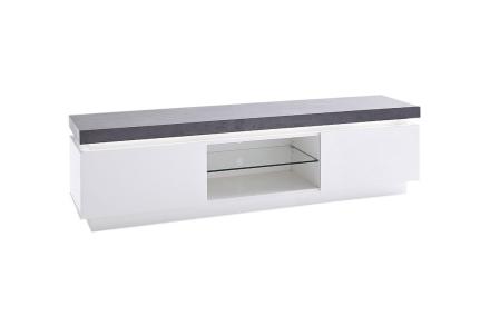 AVALON TV-benk A 175 med LED Hvit/Betong -