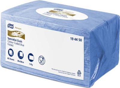 Tork Premium Färgkod Duk Blå 30x38