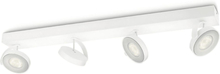 Philips myLiving LED-strålkastare Clockwork 4x4,5 W vit 531743116