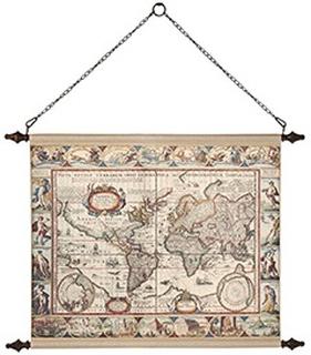 Väggdekoration - Världskarta Mini