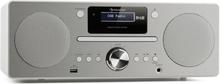 Harvard micro-anläggning DAB/DAB+ FM-tuner CD-player USB-charger vit