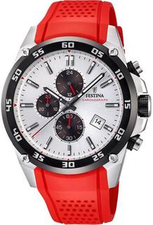 Festina klocka original F20330-1 - klocka kronograf harts röd man