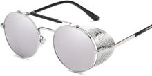 Retro Solglasögon med UV-skydd - Silver