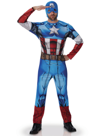 Avengers Kapteeni Amerikka -naamiaisasu aikuisille