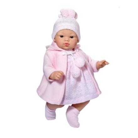 Asi dukke Koke i lyserød frakke - 36 cm - LykkeLeg