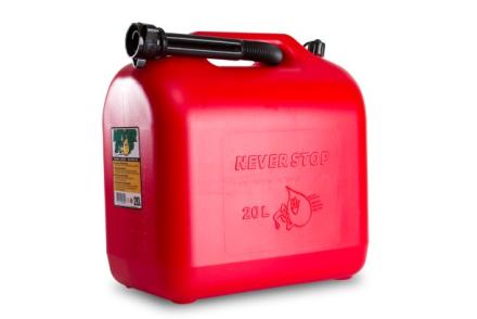 Bränsledunk 20 liter - med Autostop påfyllningspip