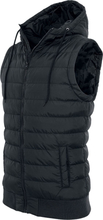 Urban Classics - Small Bubble Hooded Vest - Väst - svart