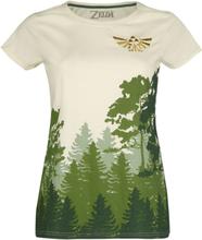 The Legend Of Zelda - Hyrule - Forest -T-skjorte - antikk hvit