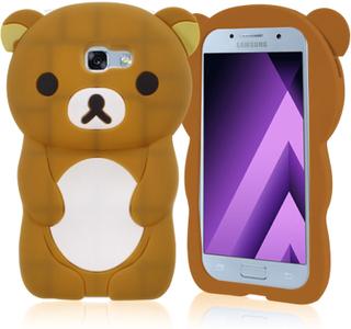 Samsung Galaxy A3 (2017) silikondeksel /m søt 3D bjørn - Brun