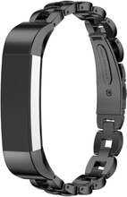 Fitbit Alta solid lenket klokkereim av rustfritt stål - Svart